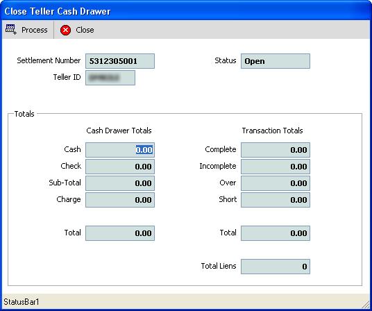 DMV Select - System Help - Revenue - Close Teller Cash Drawer